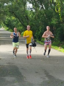 PTC Leading 3 at mile 18 225x300 Dave   46 mile ultra with an 18 minute PR.