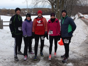That's me on the far right!! 10* at the start with wind chill temps -1*!!!! Great day to run!!