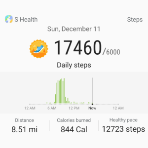 walking week after 3 THR